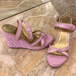 Beautiful pink and gold Coach shoes